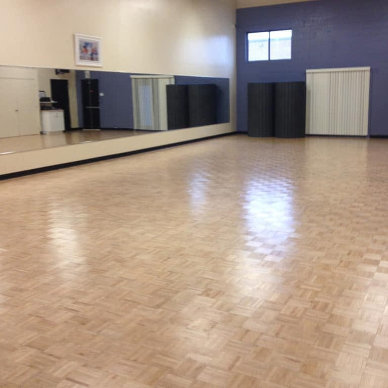 Large, bright and airy dance studio #3 at The Dance Shoppe in Milton